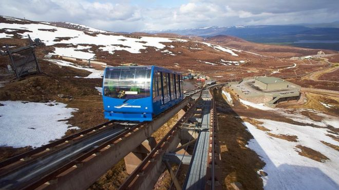 Cairngorm funicular Highlands Scotland